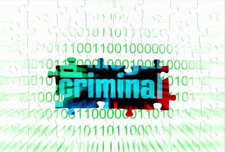 spousal: Criminal puzzle concept Stock Photo