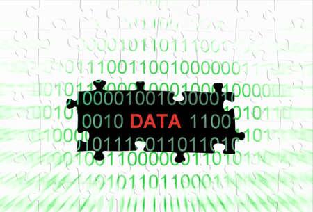 dataflow: Data puzzle concept Stock Photo
