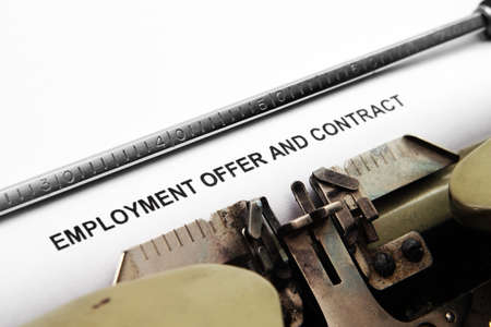 Employment contract photo