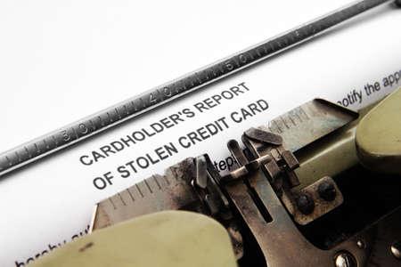 credit report: Stolen credit card report