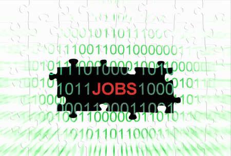 tessellation structure: Job puzzle concept