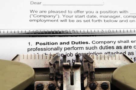 duties: Position and duties