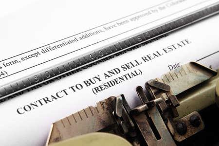 contrat immobilier Banque d'images