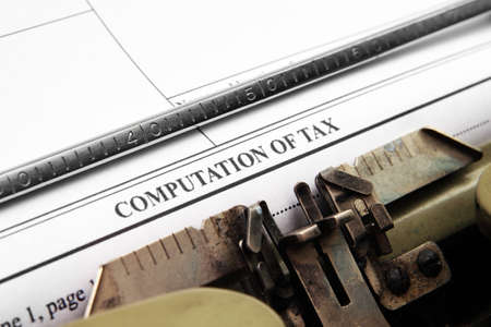 computation: Computation of tax