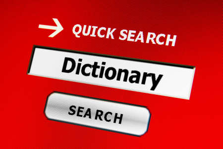 Search for dictionary photo