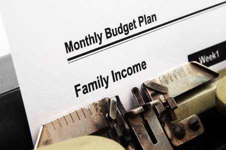 Monthly budget plan photo
