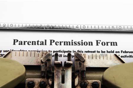parental: Parental permission form