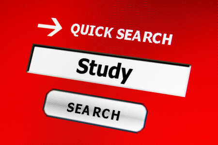 decoratiion: Search for study Stock Photo