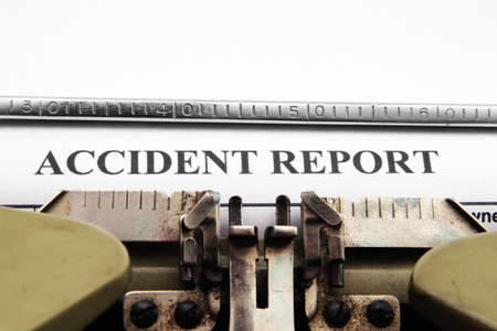 accident at work: Accident report