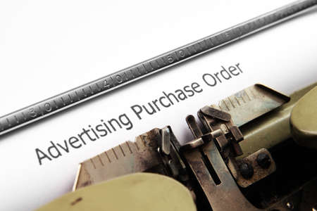 Advertising purchase order photo