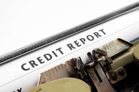 rated: Credit report Stock Photo