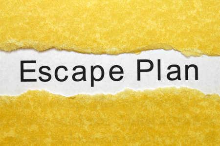 emergency plan: Escape plan Stock Photo