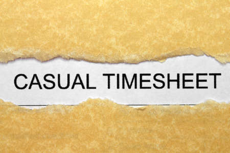 Casual timesheet Stock Photo - 16882090