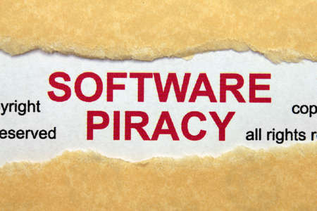 Software piracy concept Stock Photo - 17006630
