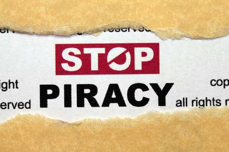 Stop piracy Stock Photo - 17006623