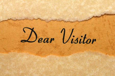 my dear: Caro visitatore
