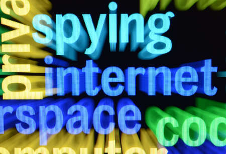 Internet spying concept Stock Photo - 17089392