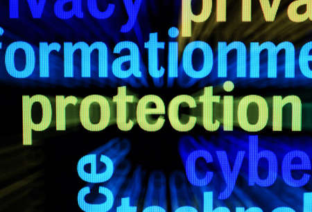 Protection word cloud Stock Photo - 17089313