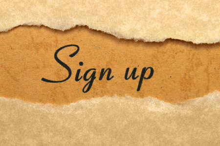 Sign up Stock Photo - 17089415