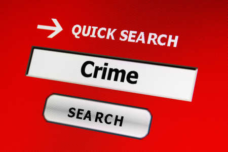 Web crime concept Stock Photo - 17191092