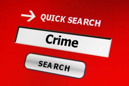 Web crime concept Stock Photo - 17191092