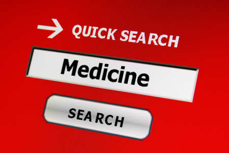 finding a cure: Search for medicine Stock Photo