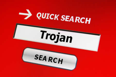 Web trojan concept Stock Photo - 17191089