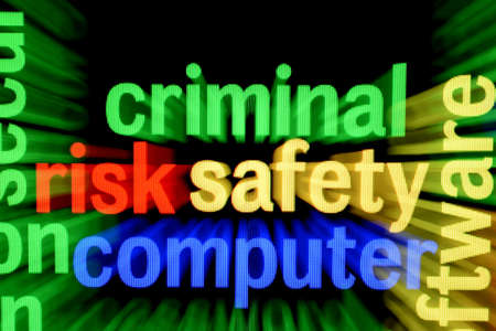 Criminal safety computer Stock Photo - 17431687