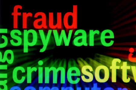 Fraud spyware crime concept