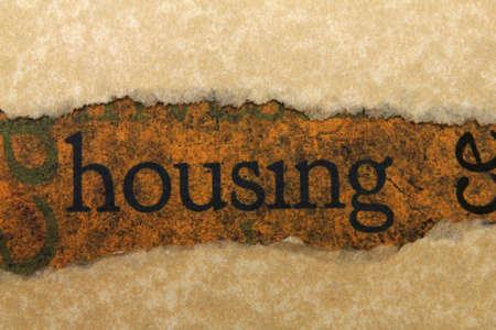 Housing torn paper concept photo