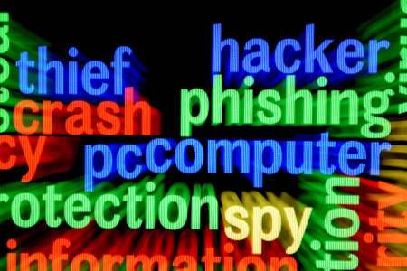 Hacker phishing computer Stock Photo - 17431764