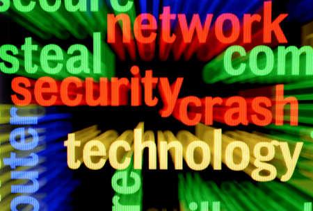 Network security crash Stock Photo - 17431646