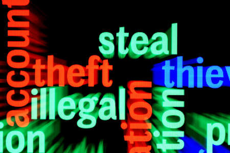 Steal illegal web Stock Photo - 17431643