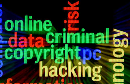 Criminal copyright hacking Stock Photo - 17432249