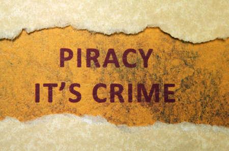 Piracy crime photo