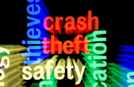 Crash theft safety Stock Photo - 17432090