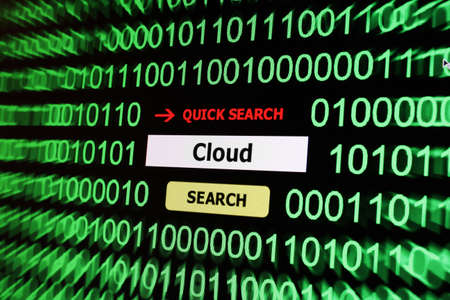 Cloud computing search Stock Photo - 17502457