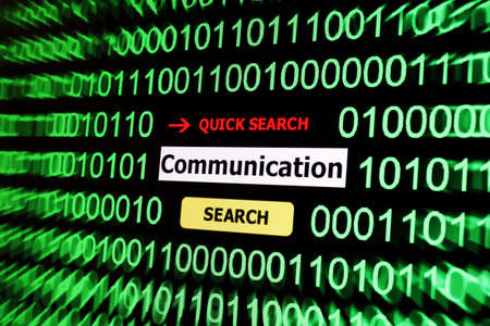 Search for communication Stock Photo - 17502439