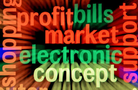 Electronic market and profit concept photo