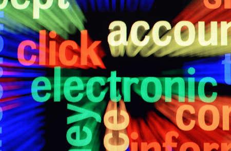 Electronic word cloud photo