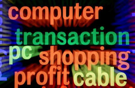 Computer shopping profit Stock Photo - 17591834