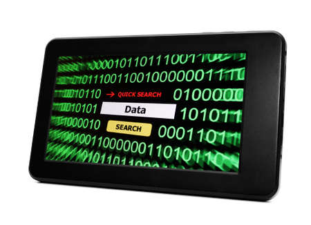Data on Tablet pc Stock Photo - 17754853