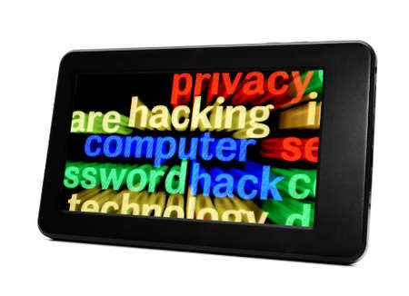 Hacking Tablet pc Stock Photo - 17754900
