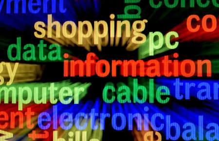 Data information concept Stock Photo - 17754926