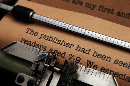 Publisher letter photo