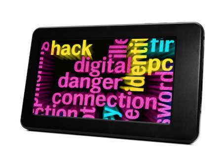 Digital danger connection Stock Photo - 18122230