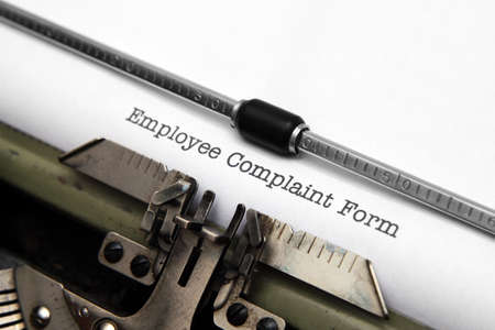 Employee complaint form Stock Photo - 18122305