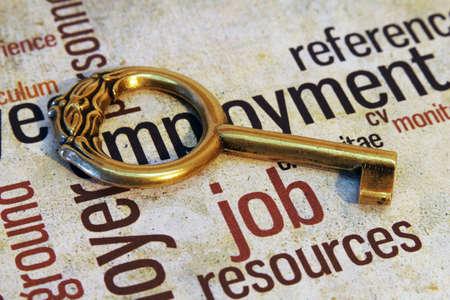 job vacancies: Job and key concept