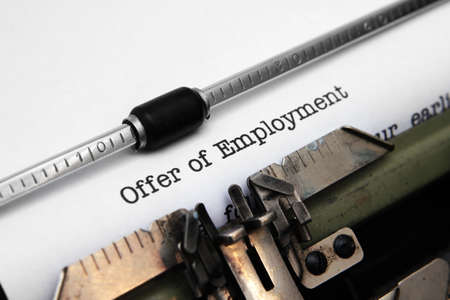 Offer of employment Stock Photo - 18122301