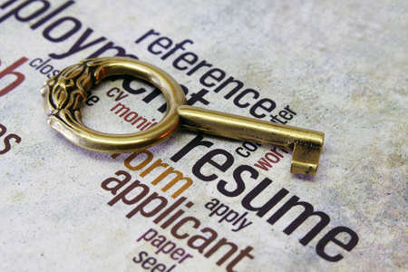 Resume and key concept Stock Photo - 18122338